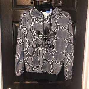 adidas snake print pullover hoodie